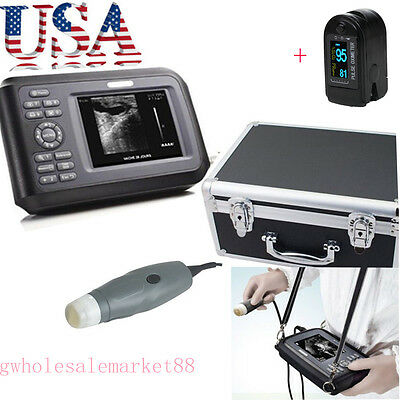Usa Veterinary Vet Ultrasound Scanner Machine Animal Probe Dog Pig Pet Oximeter
