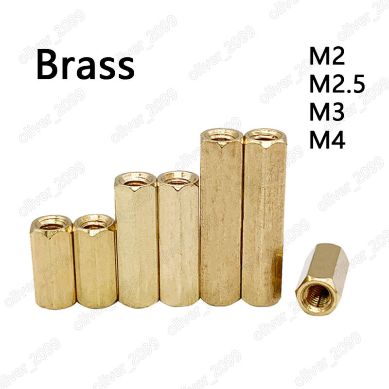 M2 M2.5 M3 M4 Female-Female Brass Hex Column Standoff Support Spacer Pillar