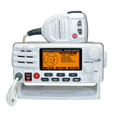 Standard Horizon Matrix GX2200 VHF Marine Radio With AIS GPS Cass D DSC White