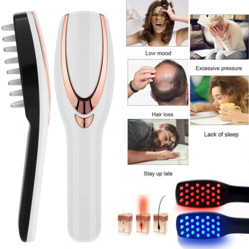 Phototherapy Hair Regrowth Brush Scalp Massager Comb Head Re
