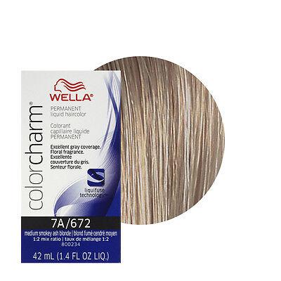 Wella Color Charm Permament Liquid Hair Dye Medium Smokey Ash Blonde 672 7A