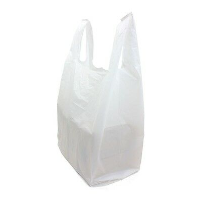 1500 x Quality WHITE Plastic Vest Carrier Bags 11