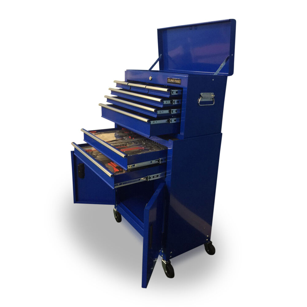 414 US PRO TOOLS AFFORDABLE TOOL CHEST BOX ROLLER CABINET