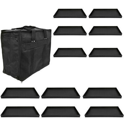 Jewelry Travel Salesman Sample Display Carrying Case 12 Pc 1 Deep Plastic Tray