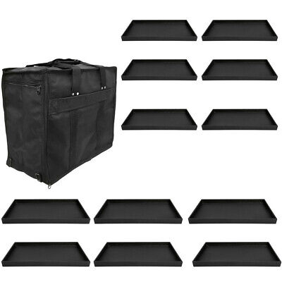 """Jewelry Travel Salesman Sample Display Carrying Case 12 Pc 1"""" Deep Tray"""