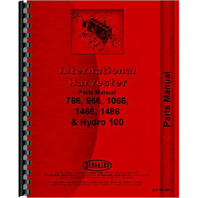 Chassis Parts Manual For Farmall 100 Tractor
