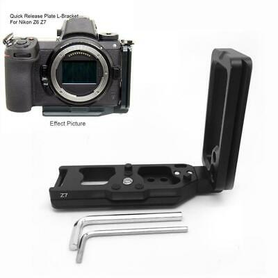 Quick Release L Plate Bracket Holder Vertical Hand Grip for Nikon Z6 Z7 Camera