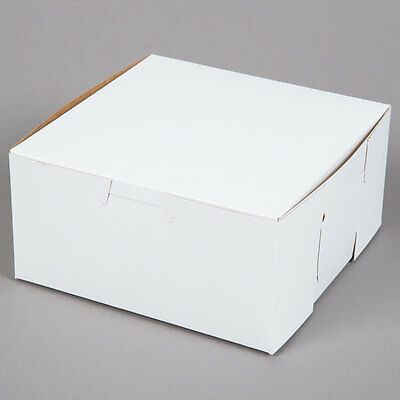 25 Count White 6x6x4 Bakery Or Cake Box