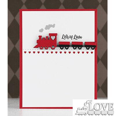 Die Train (LOVE Train MetaL Cutting Dies Stencils Handcrafts Paper Card Crafts Supplies)