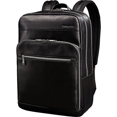 Samsonite Leather Slim Laptop Backpack 2 Colors Business & Laptop Backpack NEW Luggage