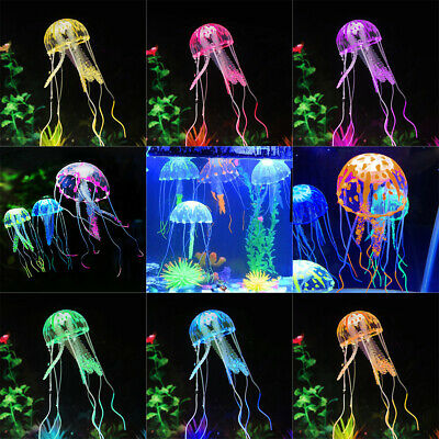 Fluorescent Powder Glowing Effect Artificial Imitation floating Jellyfish Orname