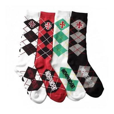 INDEPENDENT TRUCK CO' Ourgile Skateboard Socks - Argyle - Pack of 4 pairs - SALE