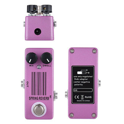 - MOSKY Spring Reverb Single Guitar Effect Pedal Low Noise Spring Reverb Sound