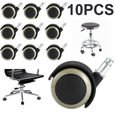 10pcs Replace Office Chair Caster Wheel Swivel Wood Floor Home Furniture Us Fast