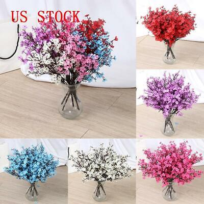 Artificial Flowers Baby Breath Fake Bouquets Flower Wedding