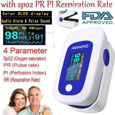 Oximeter Pulse Finger Pulso Oxymeterspo2 Pr Pi Respiratory Rateaudio Alarm