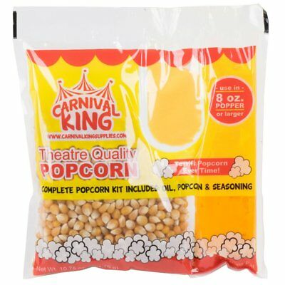 Carnival King All-in-one Popcorn Kit For 8 -10 Ounce Poppers - 24case