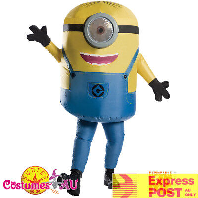 Adults Inflatable Minion Stuart Despicable Me Costume Minions Halloween Blowup