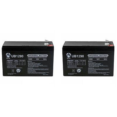 UPG 12V 9Ah SLA Battery for FAAC 415 Residential Swing Gate Operator - 2 Pack