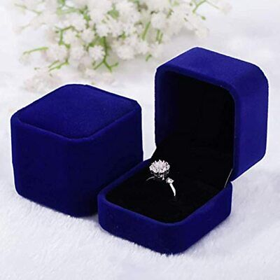 2 Pack Velvet Ring Boxes Earring Pendant Jewelry Case Earrings Gift Jewellry