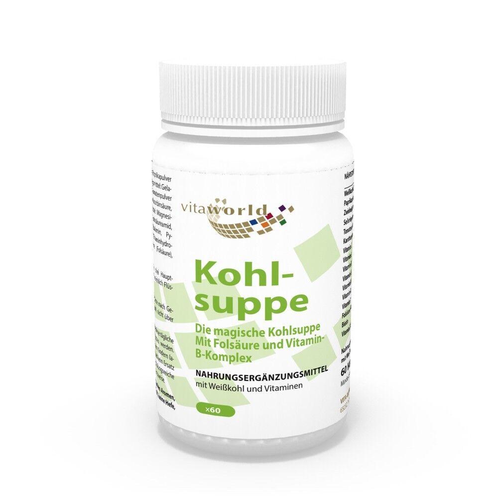 Vita World Kohlsuppe 60 Kapseln Diät Abnehmen Schlankheit Fatburner + Vitamine