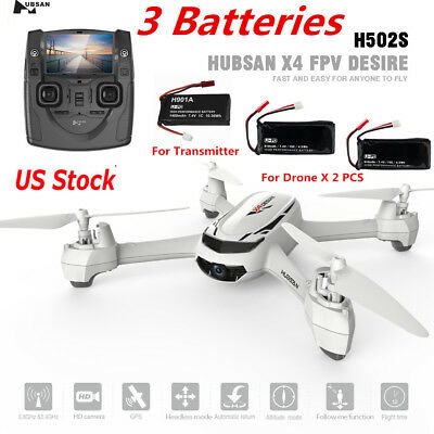 Hubsan H502S X4 FPV RC Quadcopter Drone 720P Headless Altitude GPS Come after Me RTF