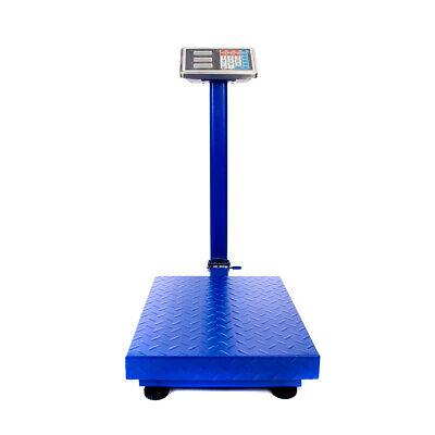 300kg661lb Lcd Digital Market Scale Personal Floor Postal Platform Scale Blue