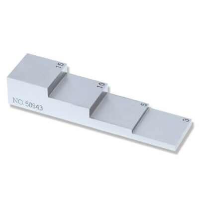 Yushi 4 Step Ut Wedge Calibration Block 3 5 10 15mm 304 Stainless Steel