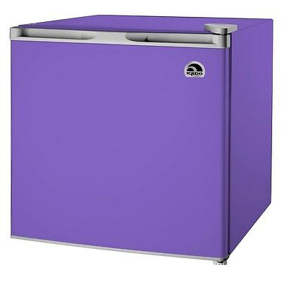 Igloo 1.7 Cu Ft Compact Mini Fridge with Ice Cube Chamber, Purple - FR115I