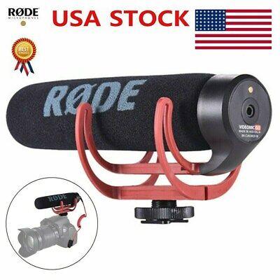 RODE VideoMic On-Camera Shotgun Microphone +Windshield for Canon Nikon DSLR