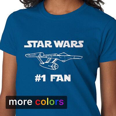 STAR WARS #1 FAN Womens T-shirt, Star Trek NCC-1701 Starship Enterprise - Star Trek Shirt Womens