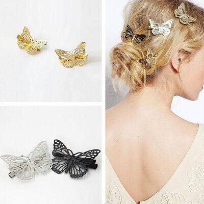 Shiny Golden Butterfly Hair Clip Headband Hair Accessories Headpiece Metal Gift - Butterfly Headpiece