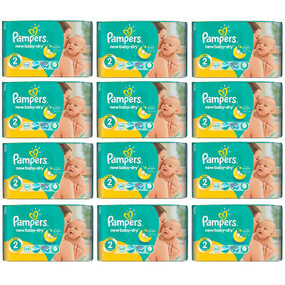 PAMPERS New Baby Mini Gr.2  3-6 kg ( 43-688 Windeln / Packung) MENGENRABATT