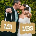 Mr & Mrs Bordjes - Bruiloft Decoratie (Feestartikelen)