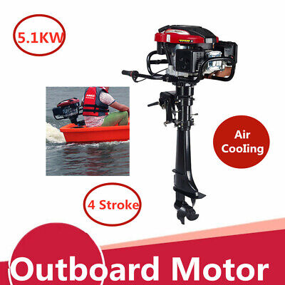 4 Stroke 7.0hp 196cc Outboard Motor Fishing Boat Engine Wair Cooling System