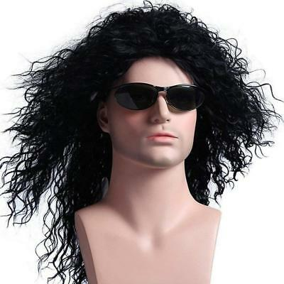 Menoqi Mens Wig 70s 80s Disco Rock Dude Halloween Costumes Punk Metal Rocker...  - 80s Punk Rocker Costume