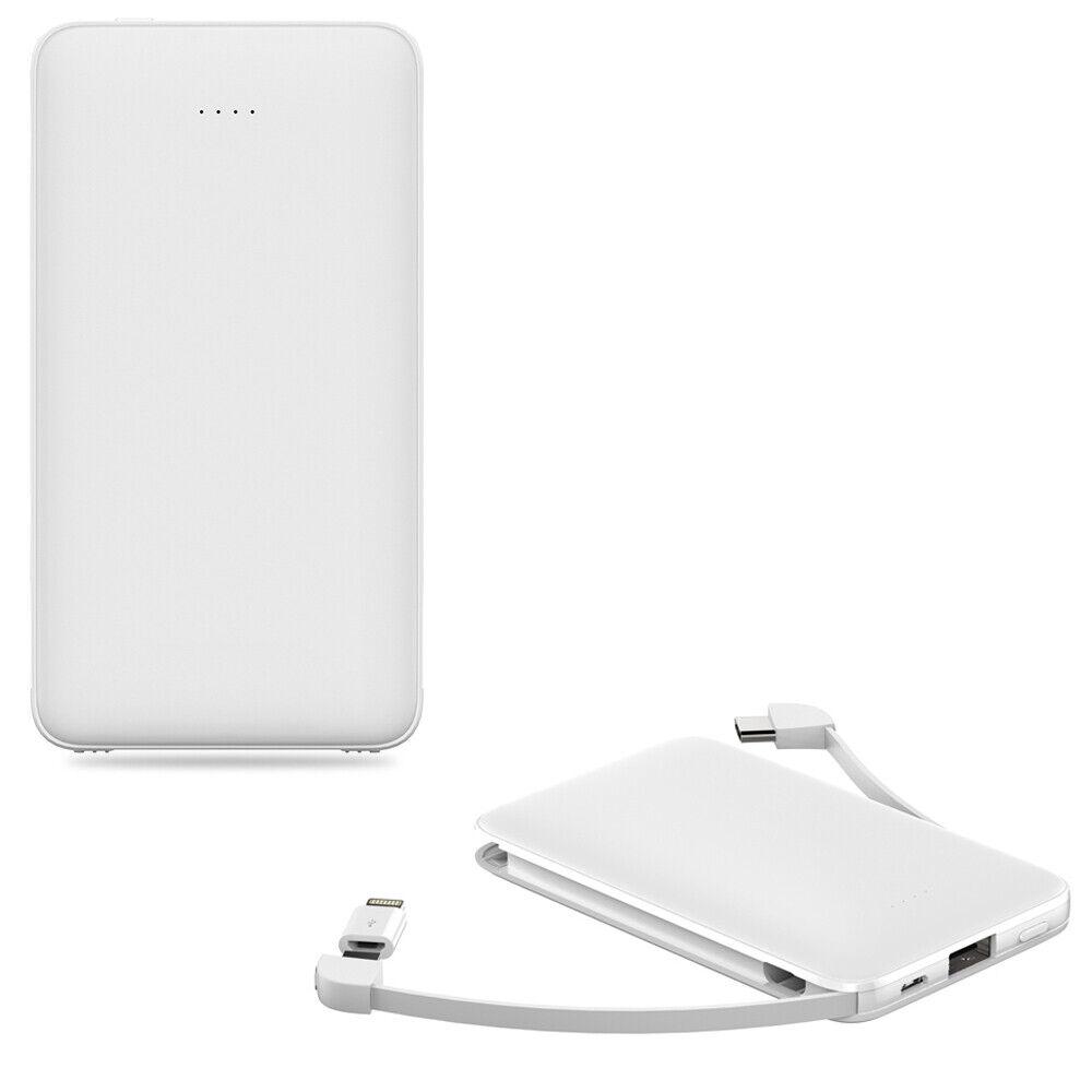 Slim Power Bank 10000mAh Built-in Lightning & Micro USB for