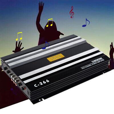 5800 W Araba 4 Kanal Güç Amplifikatörü Stereo Ses Süper Bas Subwoofer Amp 12 V
