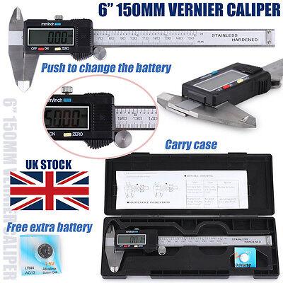 150mm Digital LCD Vernier Caliper Electronic Measurement Tools Micrometer Gauge