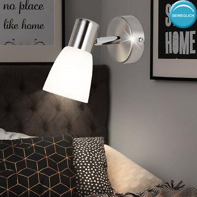 Design Wand Spot beweglich Wohn Raum Beleuchtung Glas Lese Lampe verstellbar