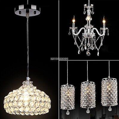 Modern Crystal Chandelier Ceiling Light Pendant Lamp Fixture For Kitchen Bar ()