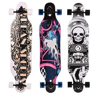41\x9\ Maple Wood Deck Skateboard / Wood Street Board Longboard Double Row Wheel