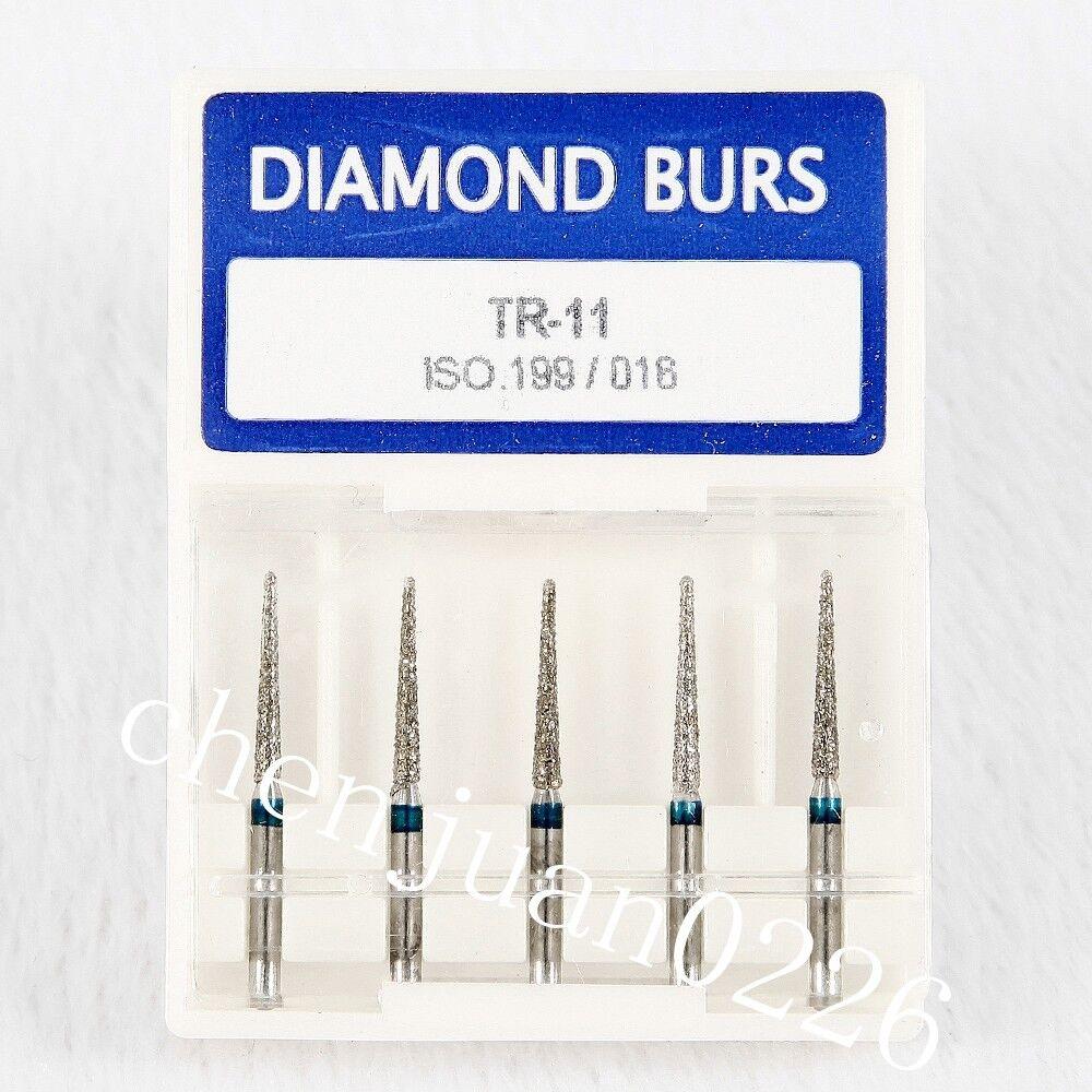 Dental Diamond: 100pcs Dental Diamond Burs Flat End Medium FG 1.6mm For