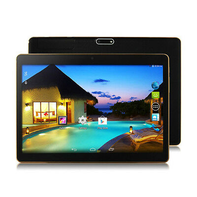 "10.1'' Tablet PC Android 6.0 Quad Core 16GB 10"" Inch HD WIFI 2 SIM 3G Phablet"