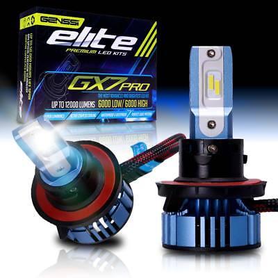 GX7 Pro H13 9008 LED Headlight Bulbs Pair CREE 6500K 6K White Light Kit