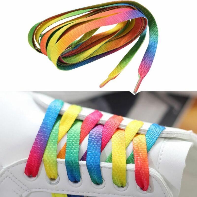 5 Pairs Rainbow Multi-Color Flat Sport
