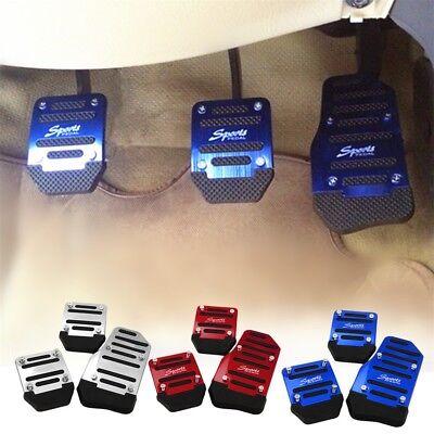Universal Racing Sport 3pcs Non-Slip Aluminum Manual Car Pedals Pad  .....