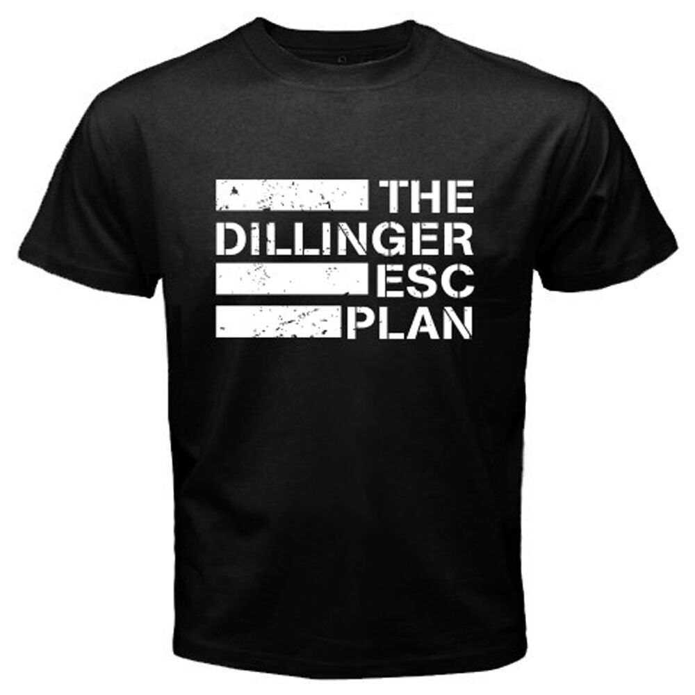 New The Dillinger Escape Plan Metal Band Men's Black T-Shirt Size S to 3XL