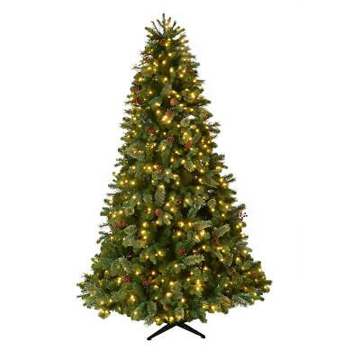 Home Accents Holiday 7.5 ft Westwood White Fir LED Pre-Lit Artificial Christmas