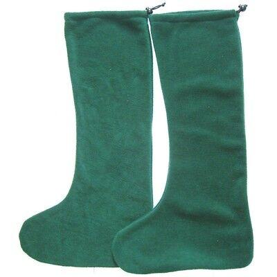 Intrepid International NEW Riding Boot Cover - Tall Hunter Green Polar Fleece - Hunter Boot Covers